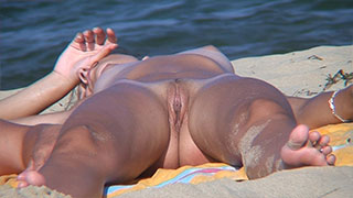 voyeur beach nudist big pussy lips close-up