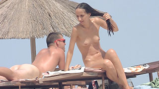 amateur nudist public beach couple voyeur